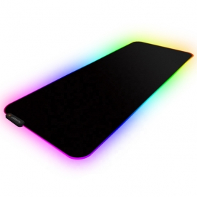 Mousepad Gaming RGB, PYRAMID®, 800*300*4mm, 11 moduri iluminare, control bluetooth, suprafata anti alunecare, textil, PAD01