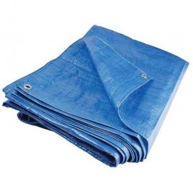 Prelata cu inele, PYRAMID®, 80 G/MP, 5 x 6M, impermeabila, albastru, PREL04