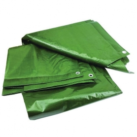 Prelata cu inele, PYRAMID®, 120 G/MP, 4 x 6 M, impermeabila, verde, PREL12