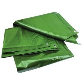 Prelata cu inele, PYRAMID®, 120 G/MP, 4 x 5 M, impermeabila, verde, PREL11