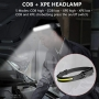 Lanterna cap cu acumulator intern, 350 lumeni, camping, pescuit, service auto, incarcare USB Type C, waterproof, L99