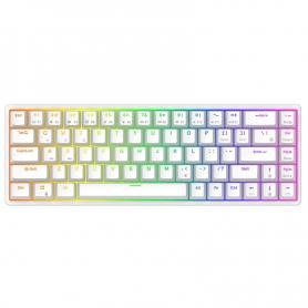Tastatura mecanica gaming Royal Kludge RKG68, 68 taste, hotswap, RGB, Keycaps ABS double shot, wireless, baterie 1450 mAh, RKG68