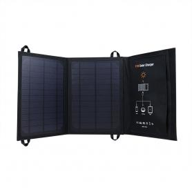 Panou solar 18V - 11W, PYRAMID, pliabil, portabil, cu 2 porturi USB, camping, drumetii, pescuit, PS-11