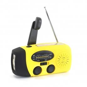 Radio camping portabil,  calamitati naturale, cutremure, furtuni, cu dinam galben